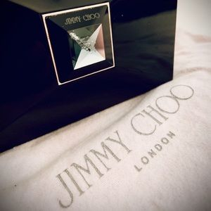 Authentic jimmy choo clutch black